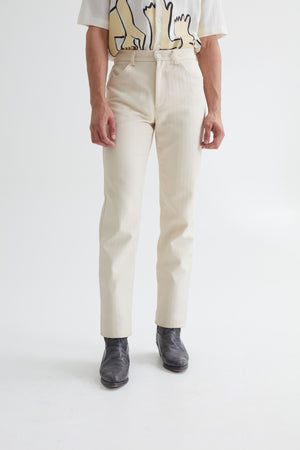 SIN SUIT TROUSERS HERRINGBONE CREAM