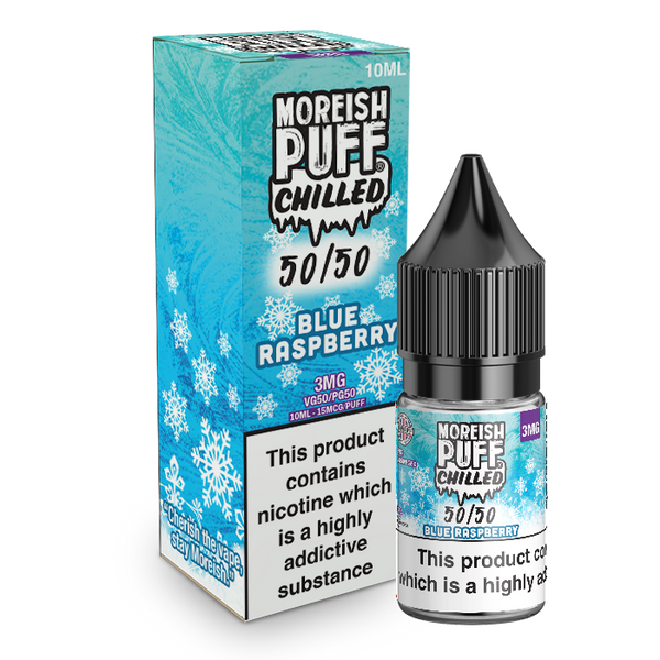 Moreish Puff Chilled 50/50: Blue Raspberry Chilled 10ml E-Liquid