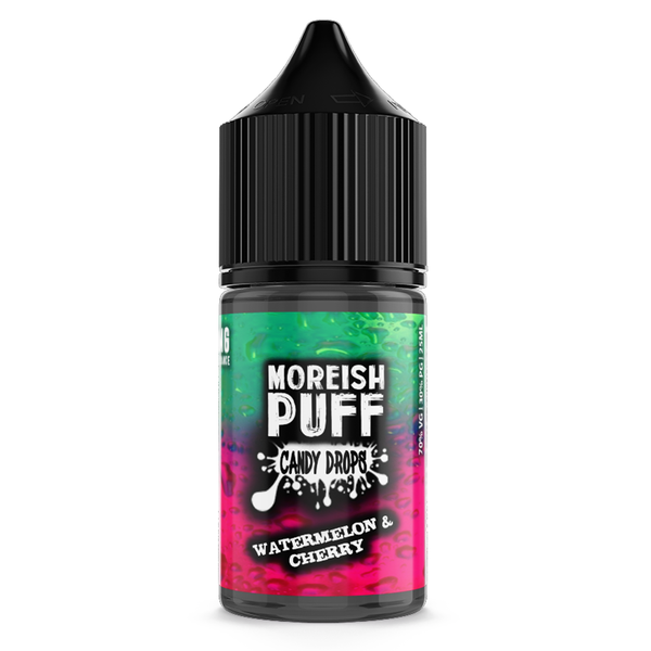 Moreish Puff Watermelon & Cherry Candy Drops 25ml Short Fill