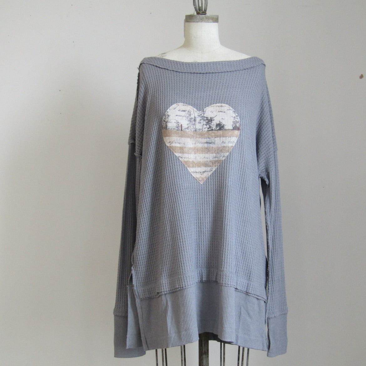 Free People and PFTP - Grey Tunic - Heart
