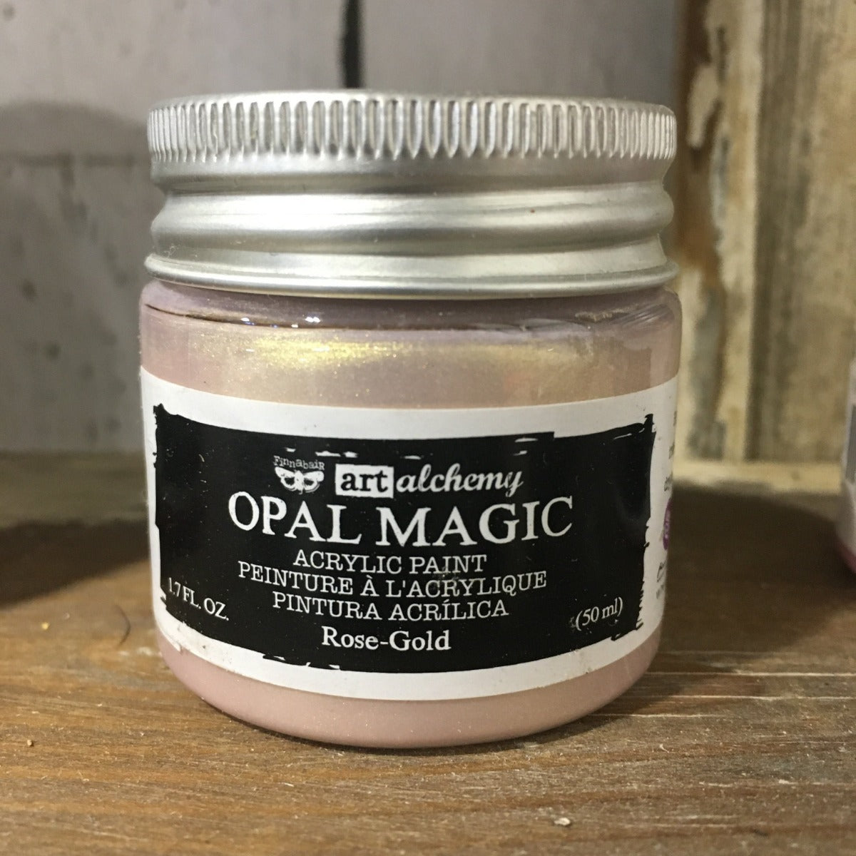 Metallic Acrylic Paints- Rose Gold