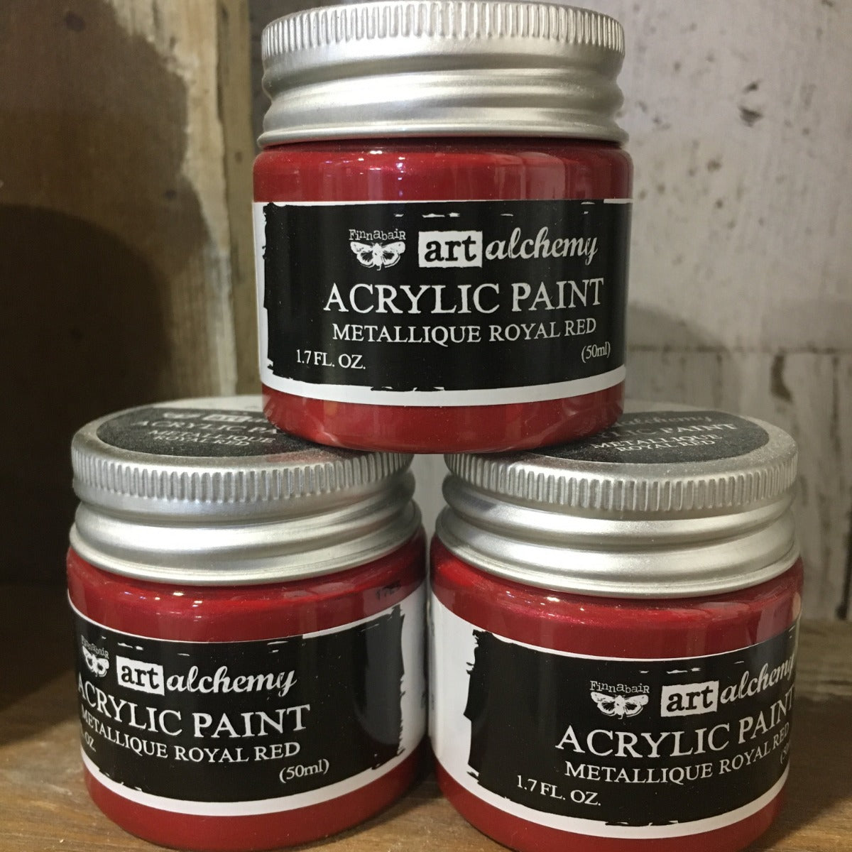 Metallic Acrylic Paints- Royal Red