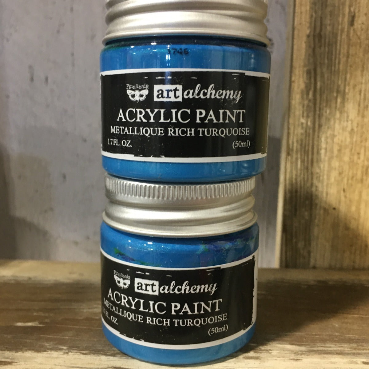 Metallic Acrylic Paints- Rich Turquoise