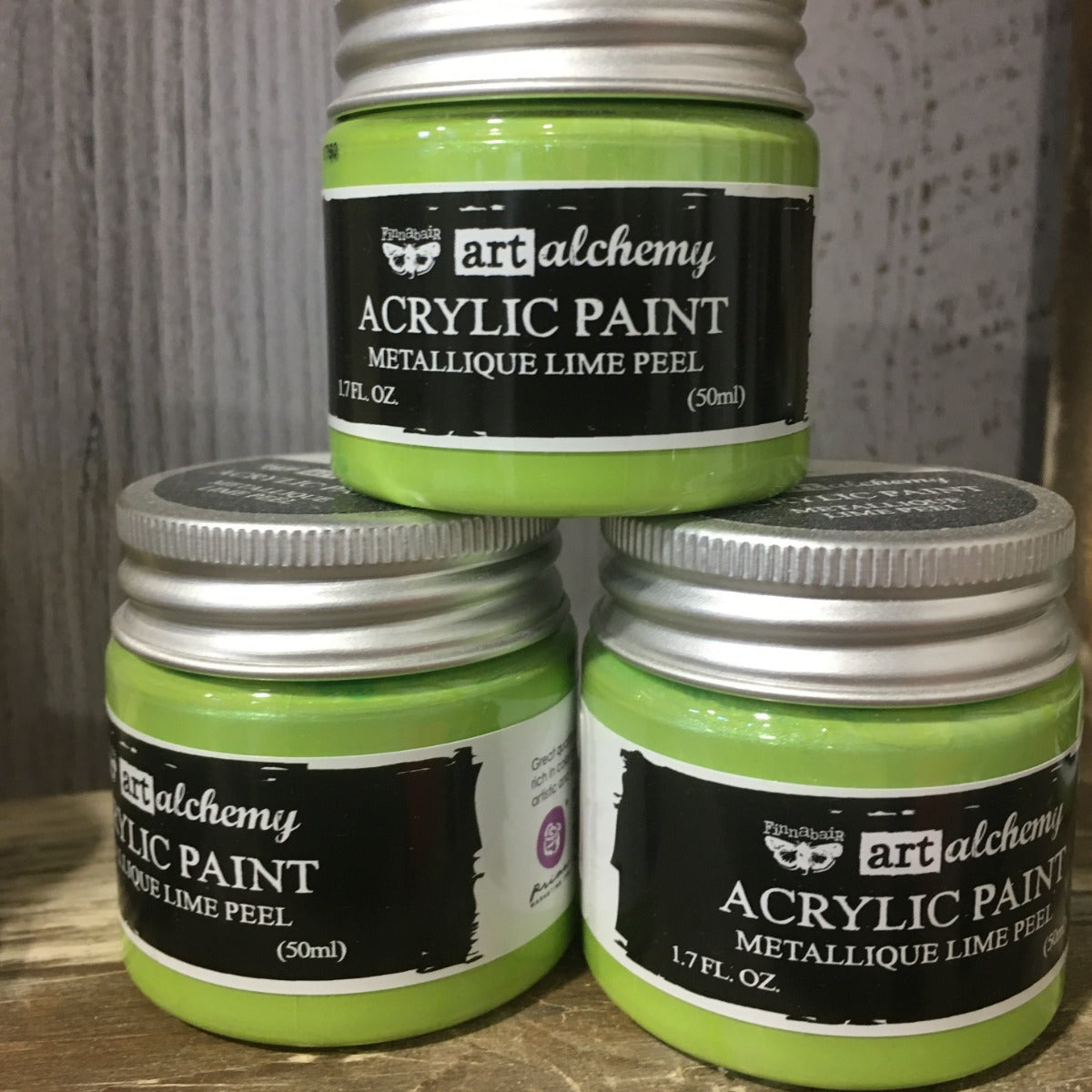 Metallic Acrylic Paints- Lime Peel