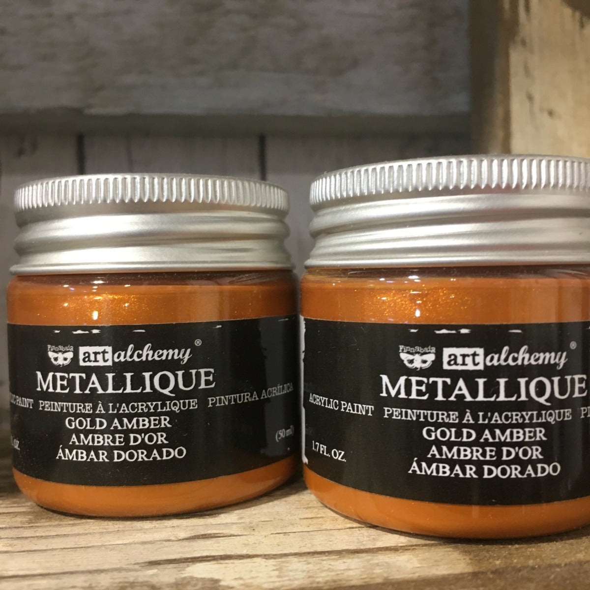 Metallic Acrylic Paints- Gold Amber