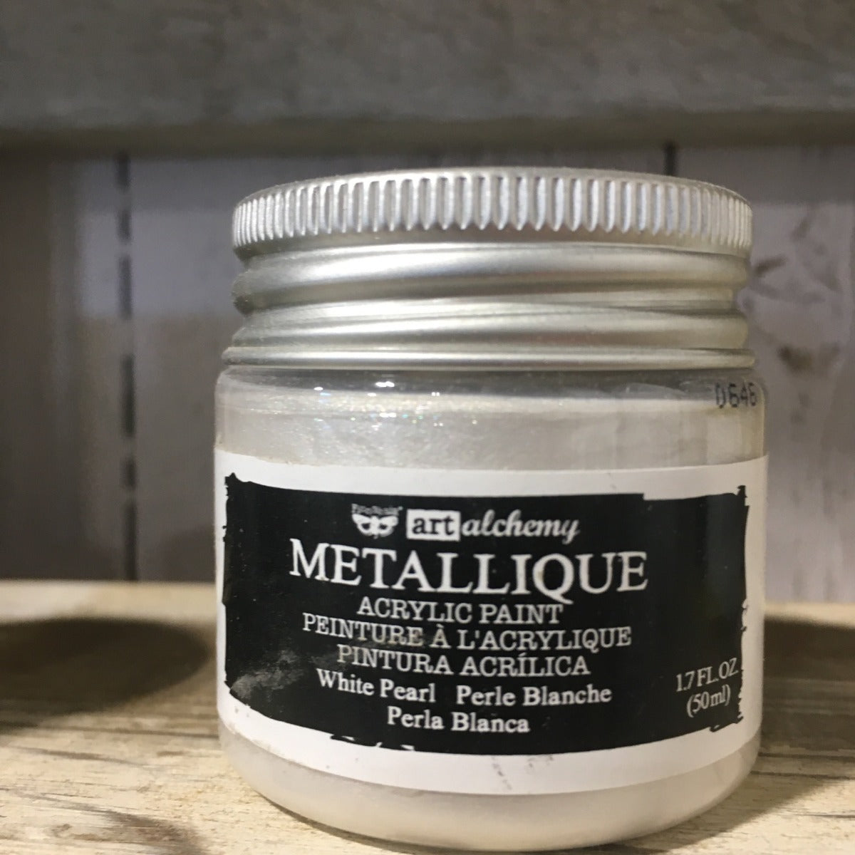 Metallic Acrylic Paints - White Pearl