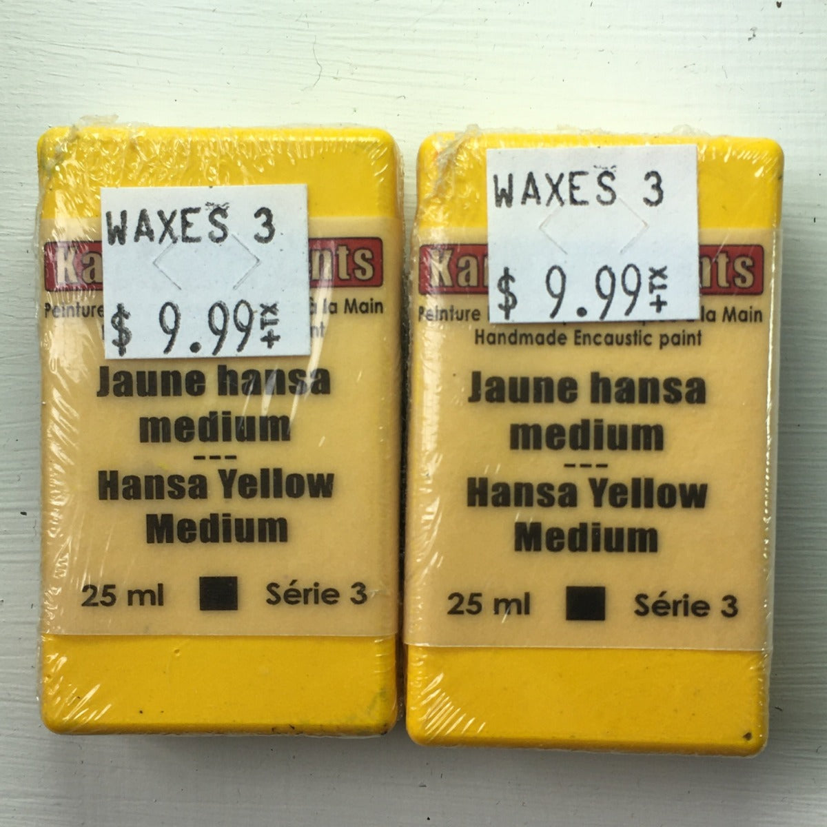 Encaustic Colour Block -Hansa Yellow Medium