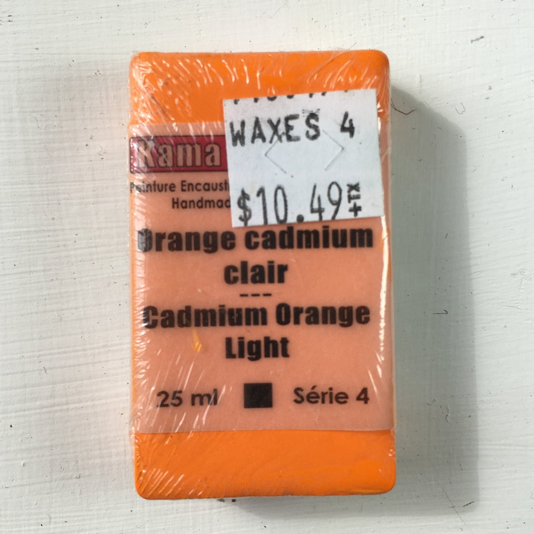 Encaustic Colour Block -Cadmium Orange Light