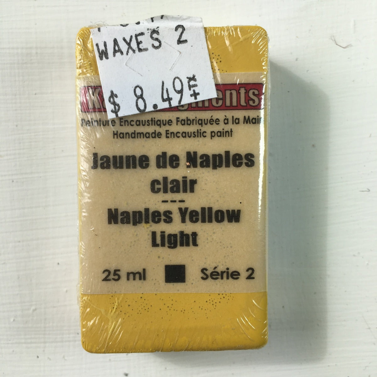 Encaustic Colour Block -Naples Yellow Light