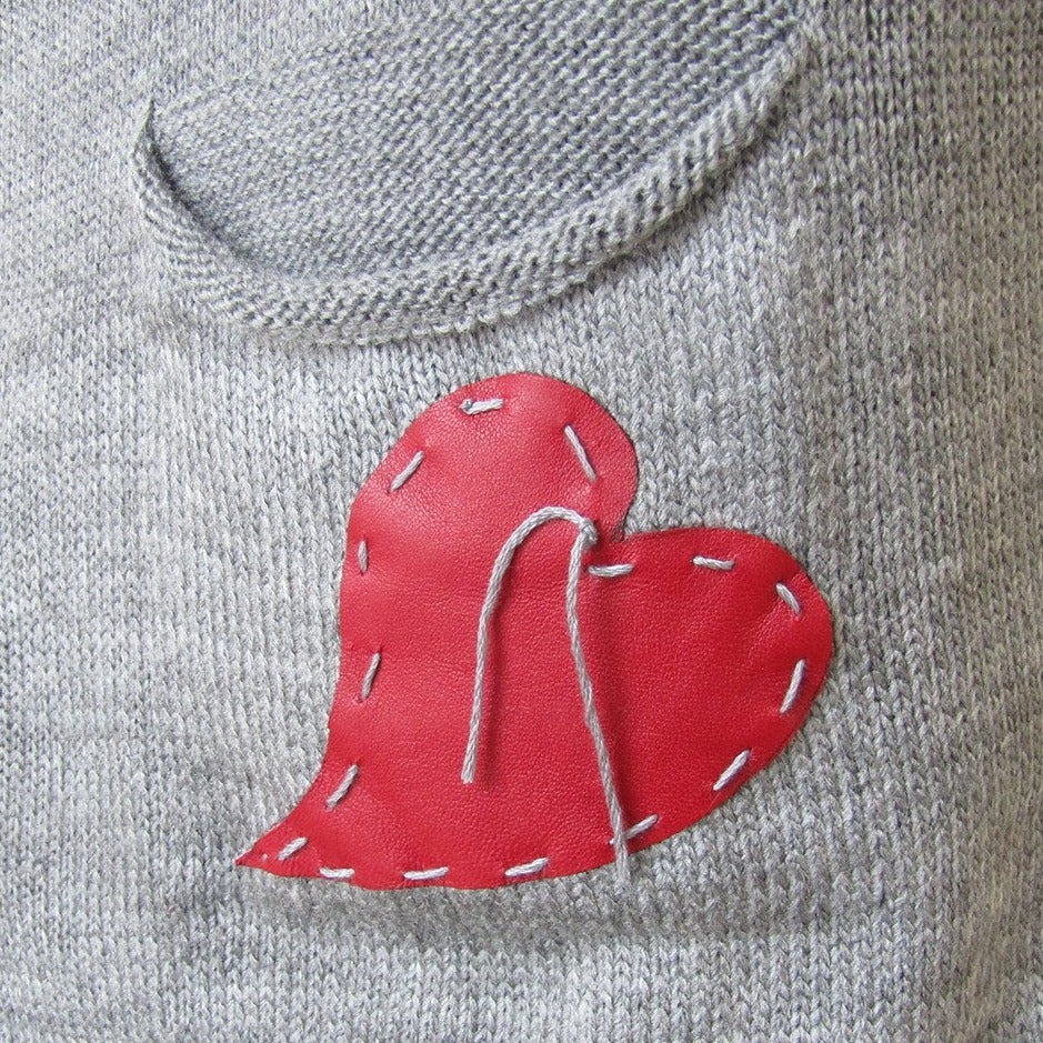 Light-Weight Darling Sweater - Tiny heart PFTP