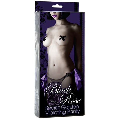 Black Rose Vibrating Panties