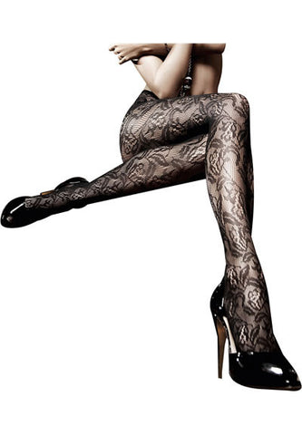 Floral Lace Pantyhose (Baci After Dark Collection)