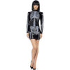 Skeleton Mini Dress (Slick Costumes)