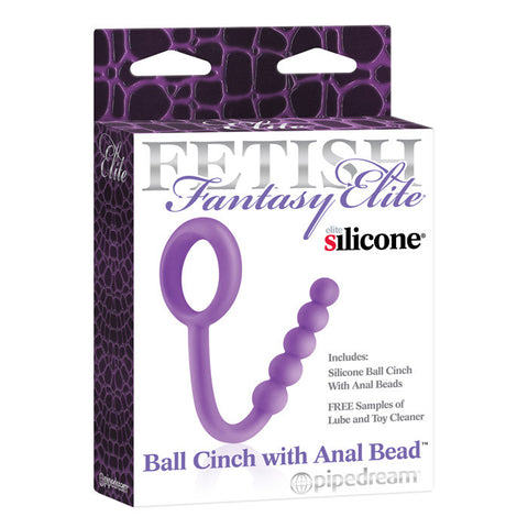 Elite Purple Ball Cinch with Anal Bead (Fetish Fantasy)