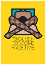 Greeting Card: Face Time