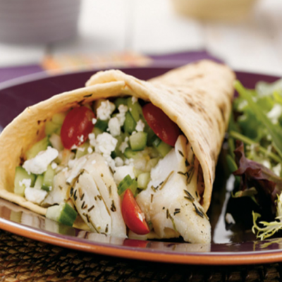 Alaska Halibut Tacos With Cucumber Salsa Recipe