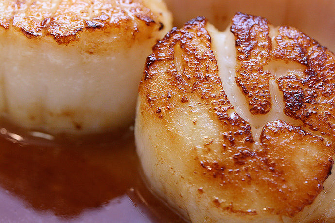 Pan-fried Scallops with Balsamic Glaze