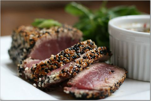 Tuna Medallions with Sesame Crust