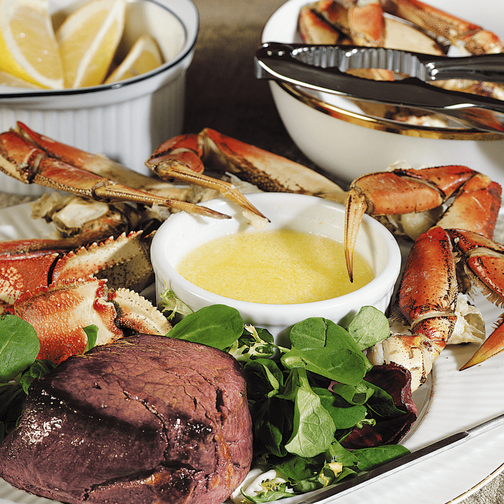 Dungeness Crab Legs and Tenderloin Fillet Surf & Turf
