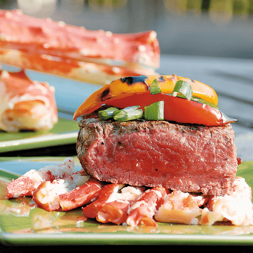 Jumbo King Crab Legs and Tenderloin Fillet Surf & Turf