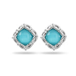 Lido Cushion Aqua Mist Earrings