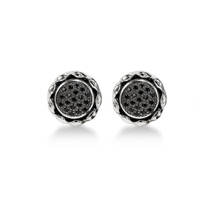 Zoe Black Spinel Earrings