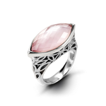 East-West Cotton Candy Ring