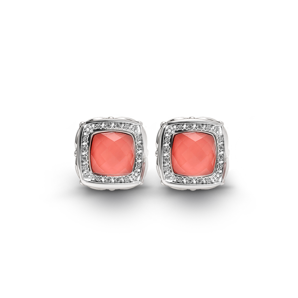 Zoe Coral Diamond Earrings