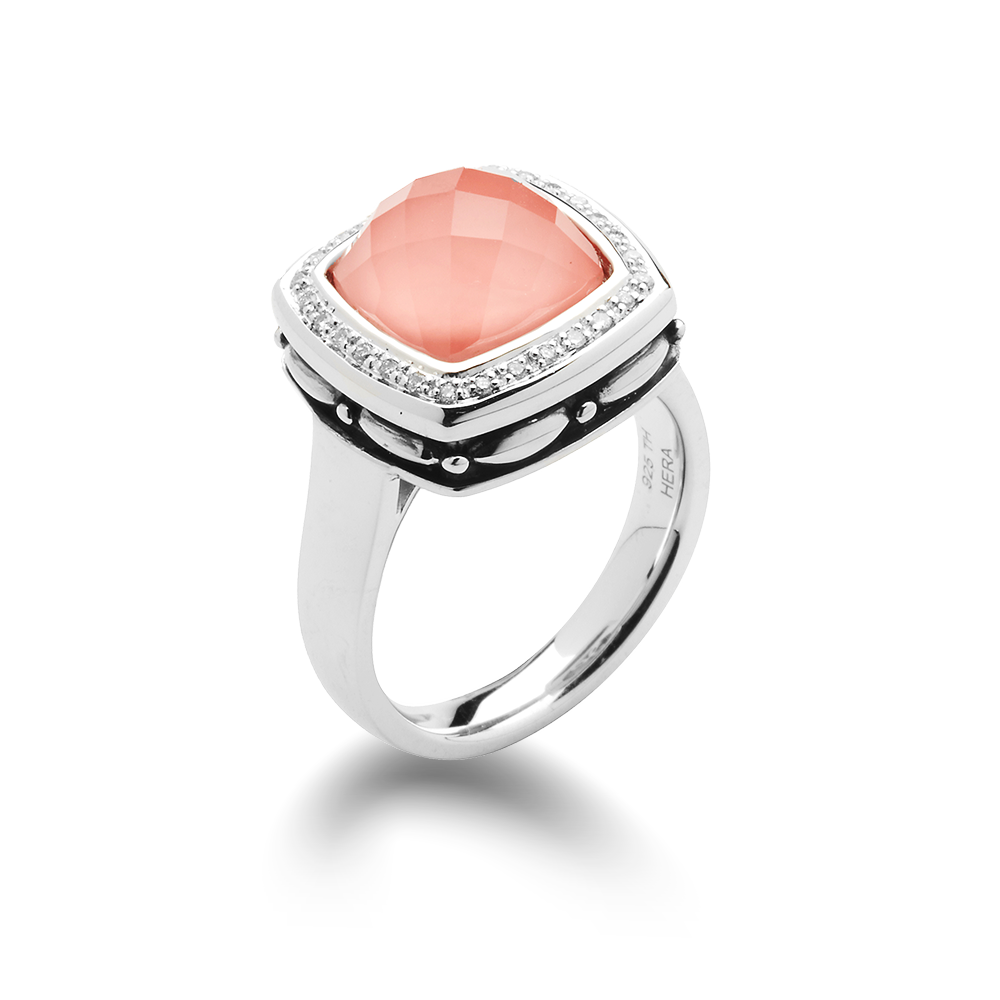 Zoe Coral Diamond Ring