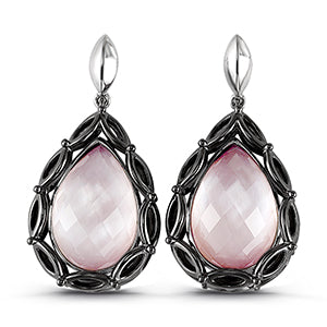 Pear Shaped Blush Mist Earrings