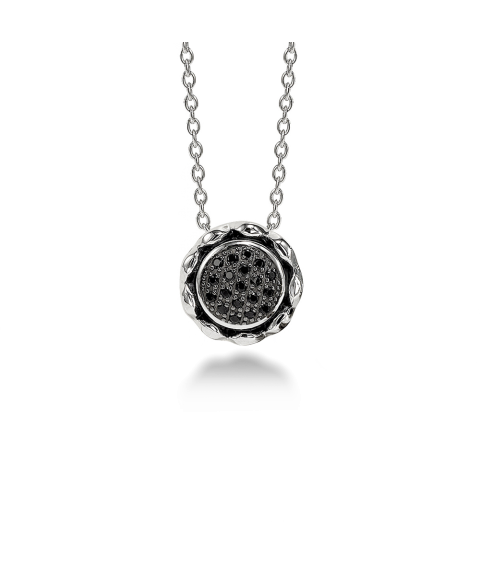 Zoe Black Spinel Pendant