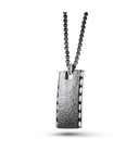 Men's Hammered Tag Pendant