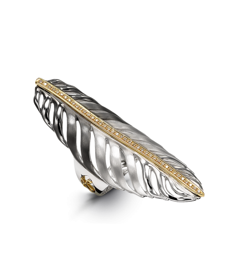 Kallini Feather Marquise Ring