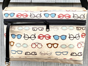 Short Messenger Bag in Cream Eyewear