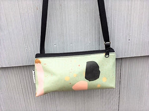 Mini Purse in Green Abstract