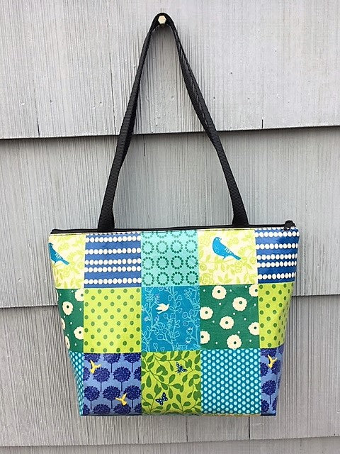 Lydia Tote in Blue Bird Patchwork