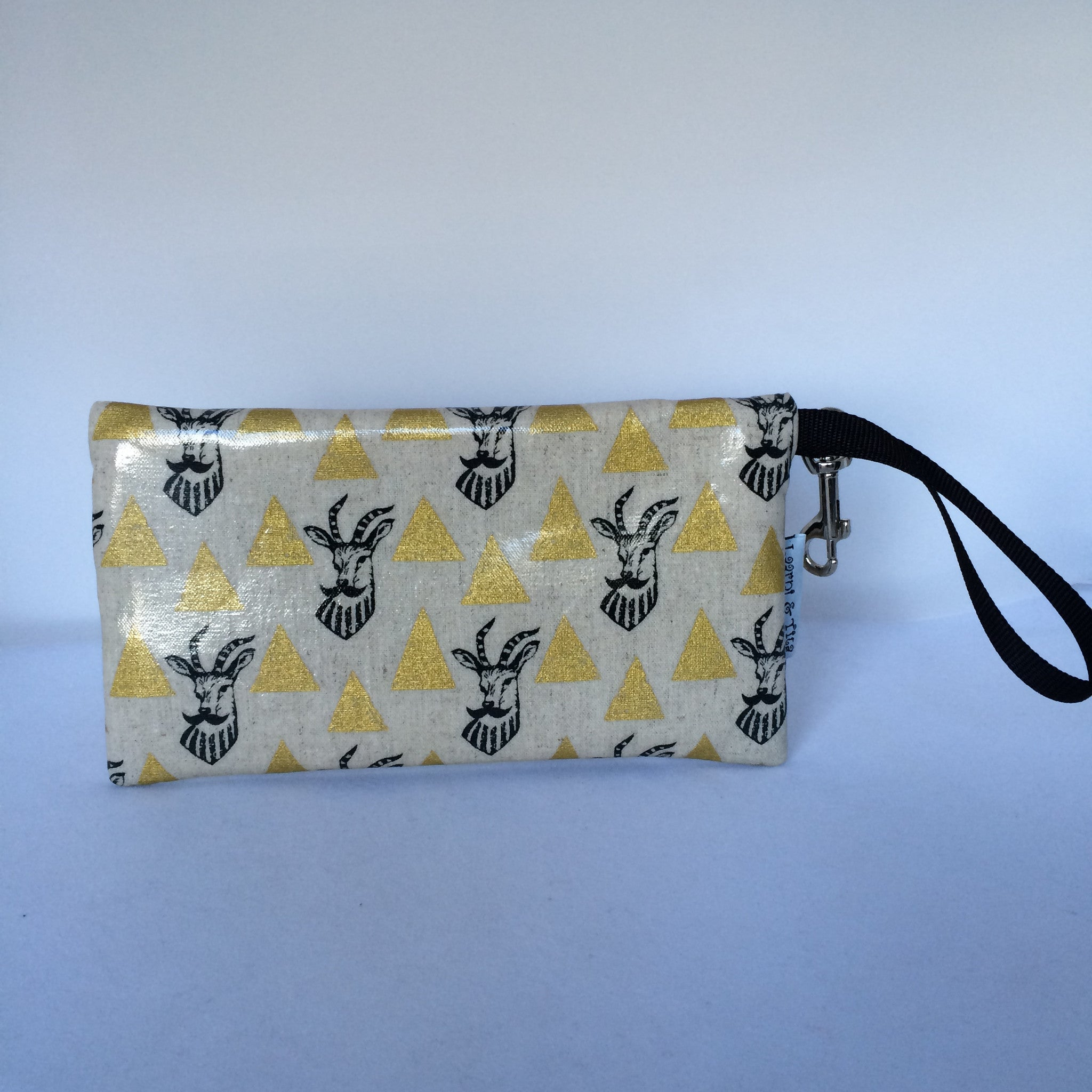Large Wristlet in Gold Goatee