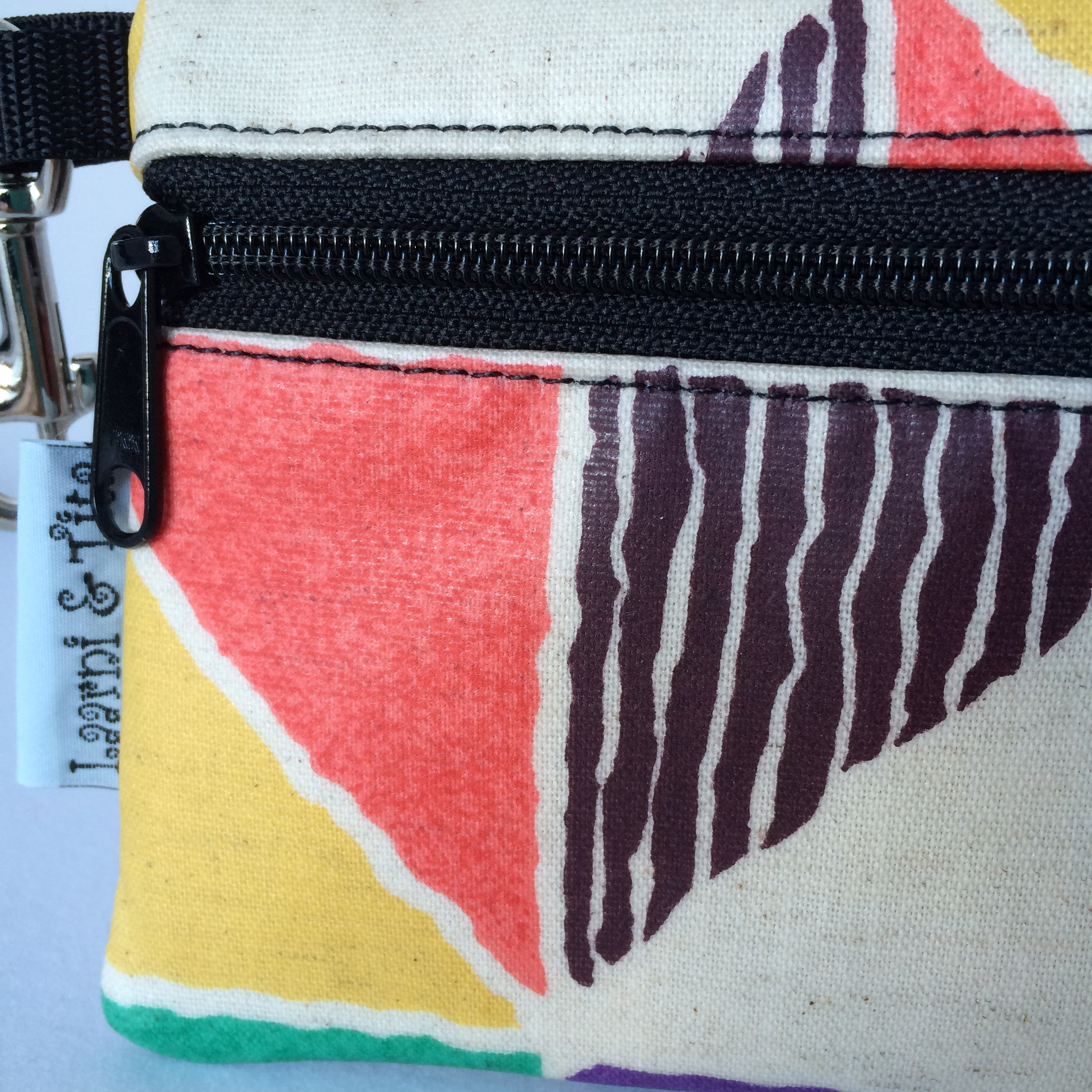 Large Wristlet in Fun Triangles