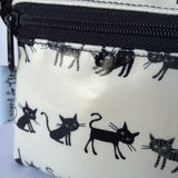 Large Wristlet in Black Cats