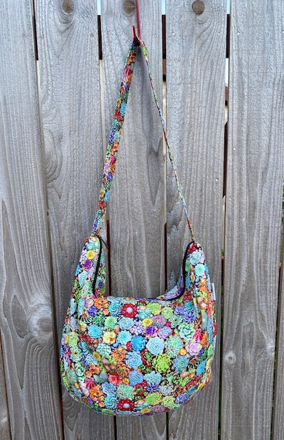 Hobo Bag in Succulents Print