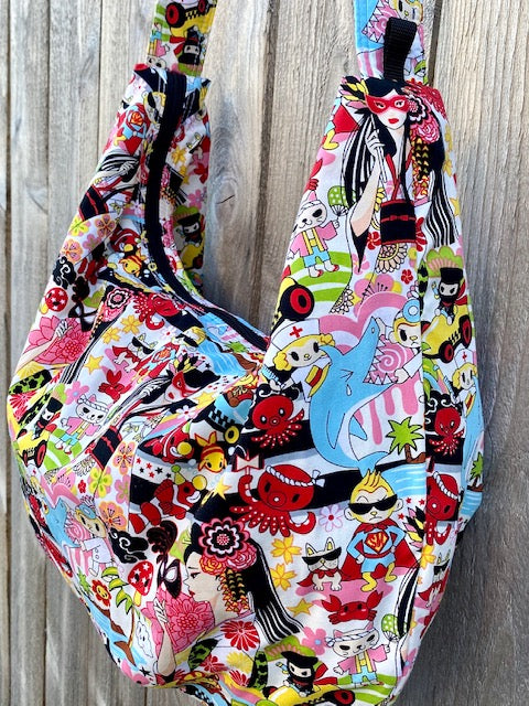 Hobo Bag in Cartoon Print#2