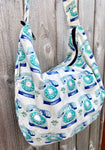 Hobo Bag in Retro Dial Phone Print