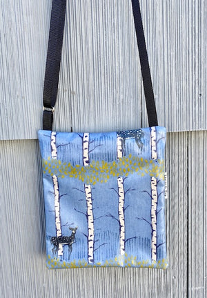 Small Travel Purse in Blue Deer *New Size*
