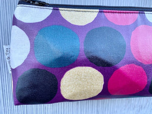 Mini Purse in Purple Gold Dots