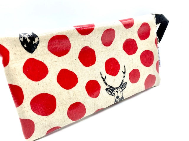 Large Wristlet in Red Deer with Glasses
