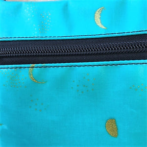 Small Travel Purse in Gold moons