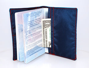 Passport Cover in Blue Rhino