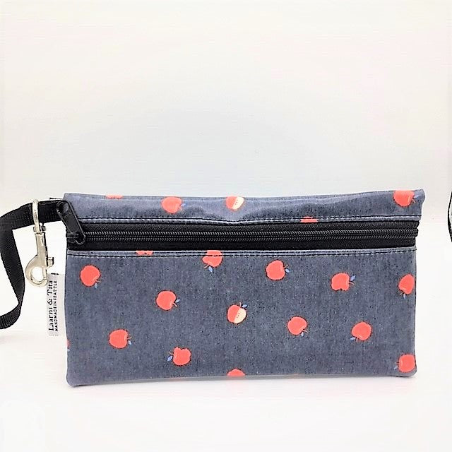 Large Wristlet in Red Apples