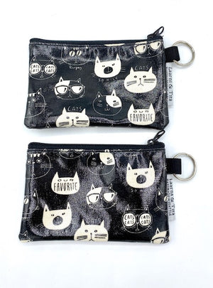 Coin Purse in So Nice Cats-Black