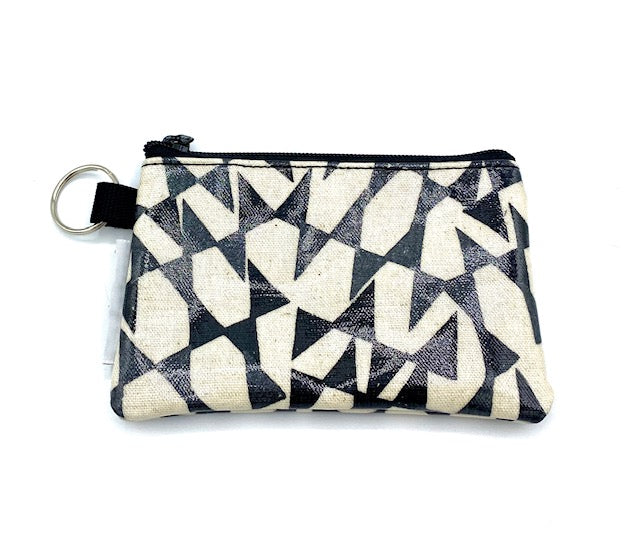 Coin Purse in Streamers-Black/White
